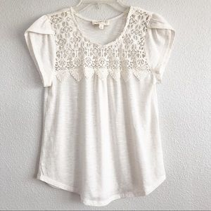 Sweet Wanderer Off-White Crochet Top. Sz Small.